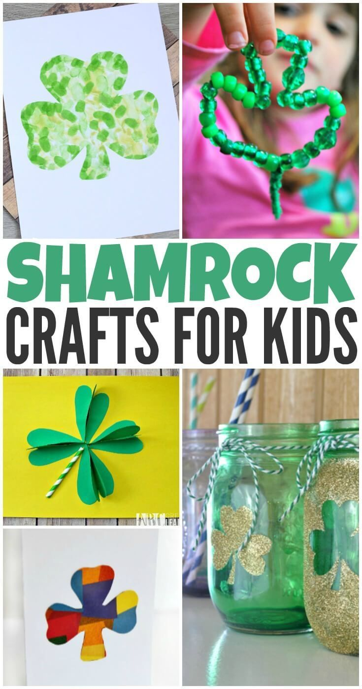 These fun and festive shamrock crafts for kids will help get the whole family ready for St. Patrick's Day this year.