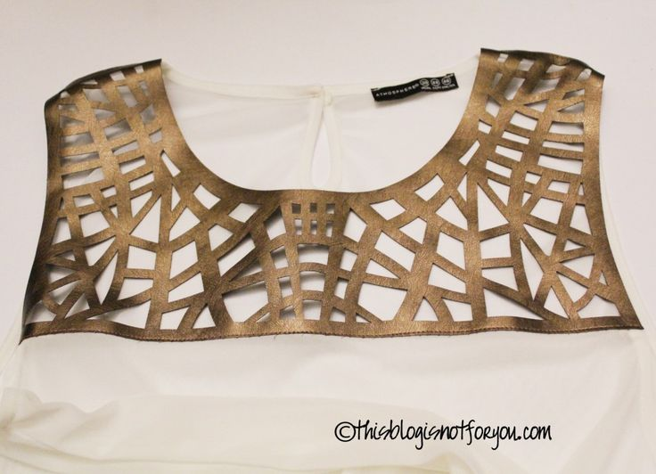 Use leather insert to refashion sweater