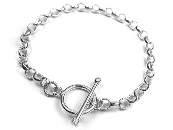Silver Bracelet - Plain Toggle