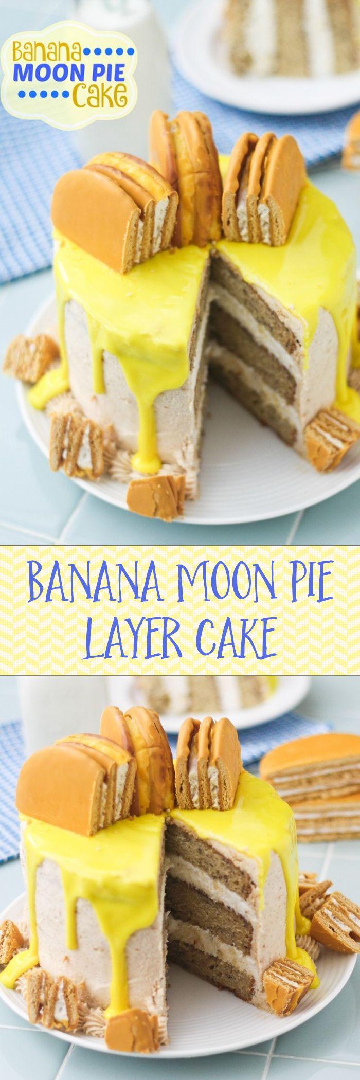 Banana Moon Pie Layer Cake (WITH BANANA GLAZE!!!)