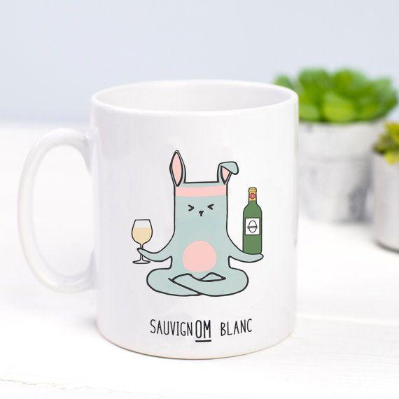 Yoga Mug Wine Mug Funny Yoga Mug Wine Humour by oflifeandlemons