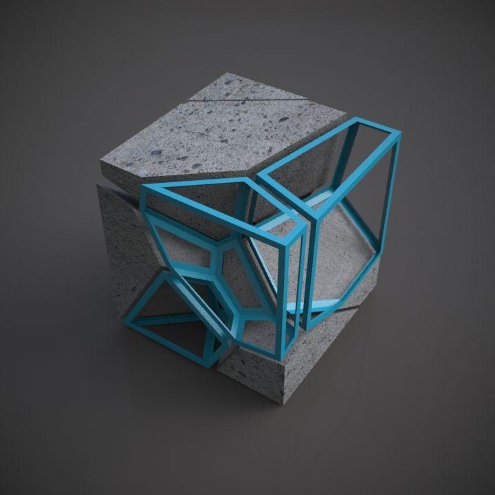 ampliar este cubo a la escala de una mesa