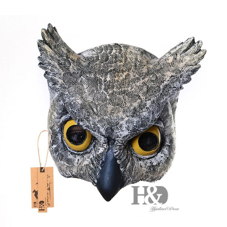 Cosplay Halloween Half Face Owl Mask Latex Animal ZOO Party Costume Prop Toys #Unbranded #Half #Halloween