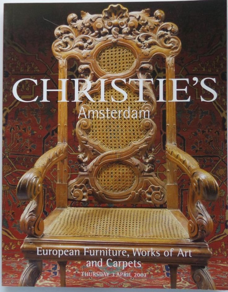 European Furniture Works Art And Carpets Christies Catalog Amsterdam