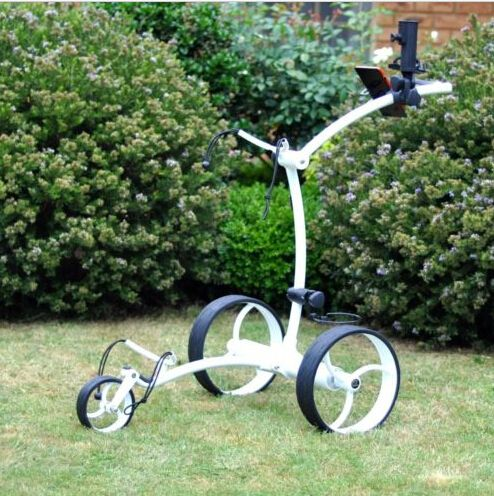 Remote control electric golf trolley