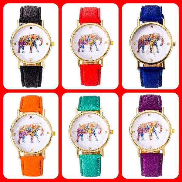 reloj con pulsera de cuero de PIKMODE por DaWanda.com