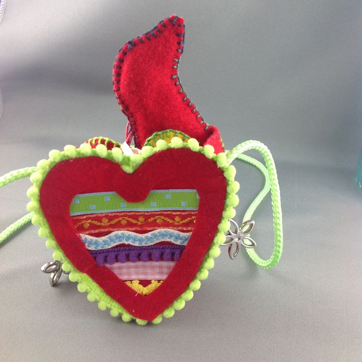 Childs heart bag - red by LibbyArtCottage on Etsy