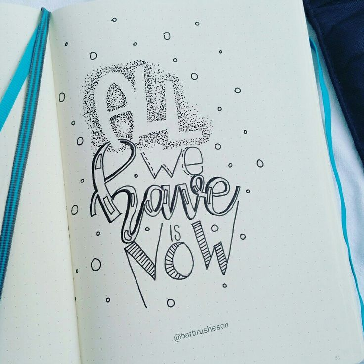 All we have is now • handlettering by @Barbrusheson