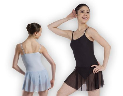 ref p204 plume 39 s microfibre camisole leotard with attached 26cm chiffon skirt this leotard. Black Bedroom Furniture Sets. Home Design Ideas