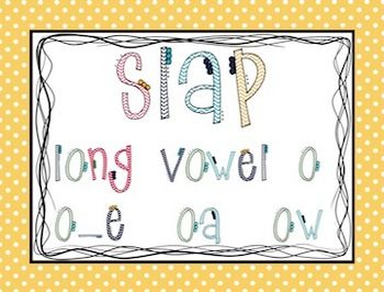This product contains 24 cards with words that have the long vowel o patterns (oa, ow, o_e) Whenever my kids are starting to learn a new pattern, I want to give them as many opportunities as possible to read words with that pattern. This game gives them the a fun way to practice reading those pattern words.