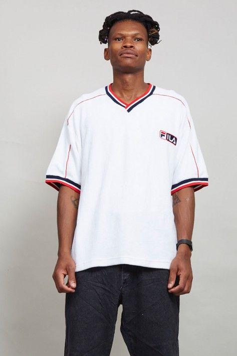Vintage Fila velour 80's V-Neck T-Shirt