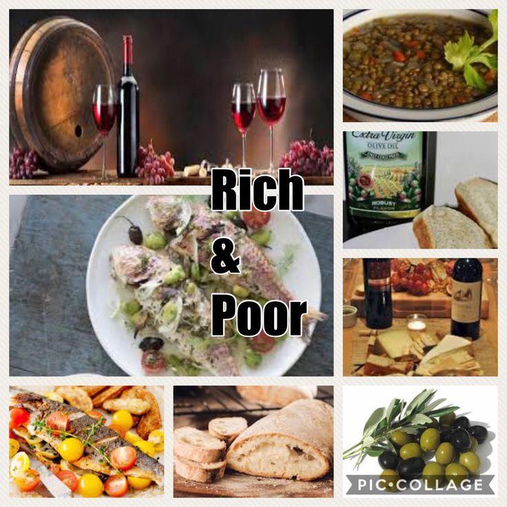 Poor & rich Akriatisma (breakfast), Ariston(lunch), Deipnon(dinner), Sitos (Starter), Opson( main course).