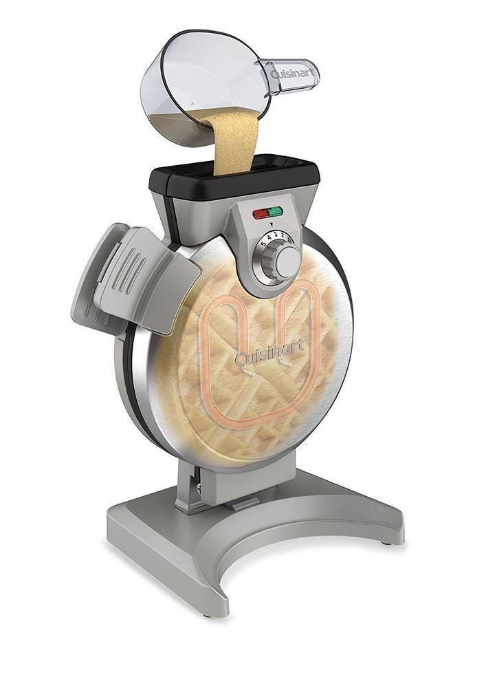 Cuisinart Belgian Waffle Maker Iron Gourmet Baker Breakfast Commercial Vertical #BelgianWaffleMaker