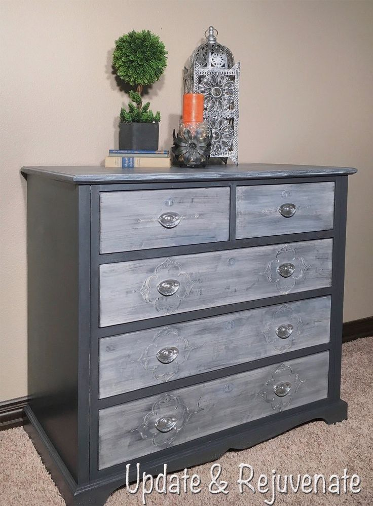 Raised Stencil to Give Plain Drawers Some Design