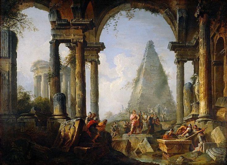 Александр Великий у гробницы Ахиллеса. Джованни Паоло Панини. Описание картины, скачать репродукцию.