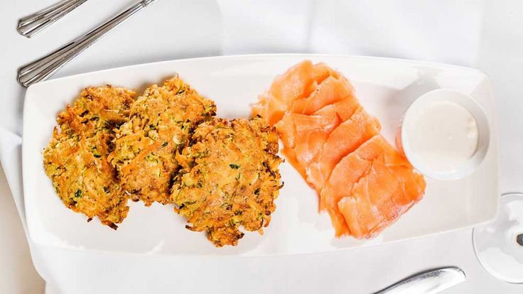 Susie Burrell's sweet potato and carrot fritters with smoked salmon recipe - 9Kitchen