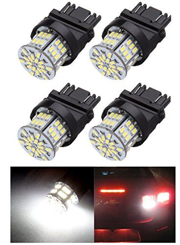 4Pk White 3157 6000K 54SMD Epistar LED Bulbs DRL Light Back up/Reverse Light Brake Light Parking Light Tail Light R-turn Signal F-turn Signal Light  2017 High Power Xenon Light Ultra Bright Bulbs White Lamps for Car Vehicle  Type of Lights: 3157-Epistar LED chip build-in projector light with 54 3014 SMD  Long-lasting Life - 50000+ working hours. Cross Reference: 3157 3156 3057 3047 3155 4114 4057 4157 3057A 3357NA  Application: for 2007 2008 2009 2010 2011 2012 2013 Chevy Silverado DRL...