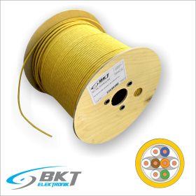 Cablu de retea Cat.7 S/FTP FRNC 695, AWG 23 BKT (Tambur 500m, Culoare Galbena)