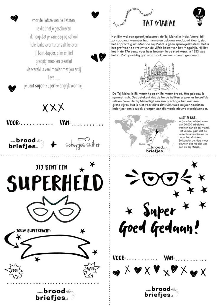 Super-duper leuke broodbriefjes deze week: voor een superheld met speciale superkracht, omdat je het super goed gedaan hebt en een superlief gedichtje van Schepjes Suiker (dank daarvoor!)! Dat moet toch wel een superleuke week worden?! Heel veel plezier! Printen kan door het plaatje hieronder op te slaan op je deviceof vanaf onzeprint-pagina!Whatsapp/Snapchatje 'm liever naar …