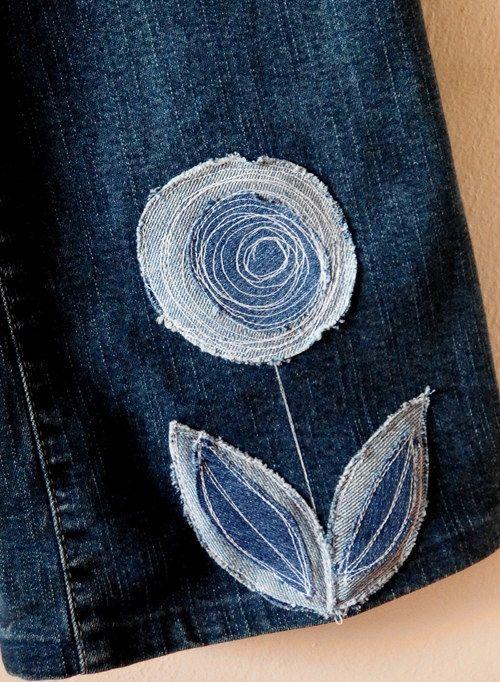 Denim-Blume
