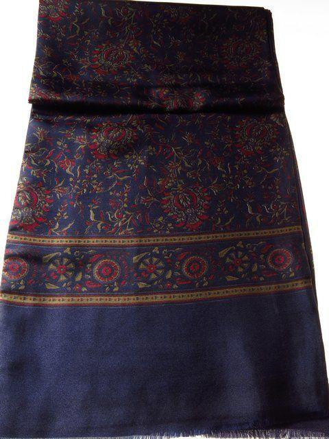 Pure silk mens scarf w/ wool back - Tweedmans Vintage