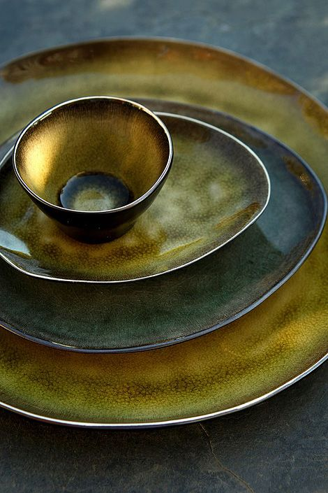 Pure ceramic tableware by Pascale Naessens.