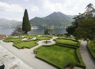 Manicured gardens.