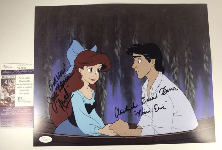 JODI BENSON & CHRISTOPHER DANIEL BARNES signed 11x14 Photo Little Mermaid JSA