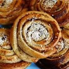 The famous Swedish cinnamon bun, kanelbulle in Swedish.
