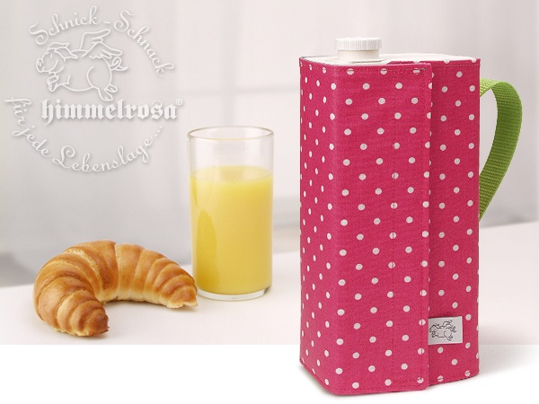 """Ein schön gedeckter Tisch mit einem Getränke-Karton? Wie soll das gehen...?    Die genähte """"Kanne"""" von himmelrosa, für niedrige 1 Liter Kartons (z.B."""