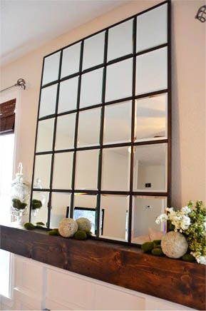 DIY Pottery Barn Eagan Mirror. PB elegant wall mirror at a fraction of the cost. Do it yourself!
