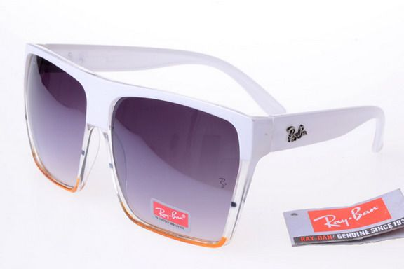Ray-Ban Square 2128 White Orange Frame Gray Lens Go to Diet health info for
