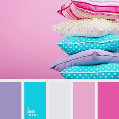 Inspiring colors for a young girls bedroom.