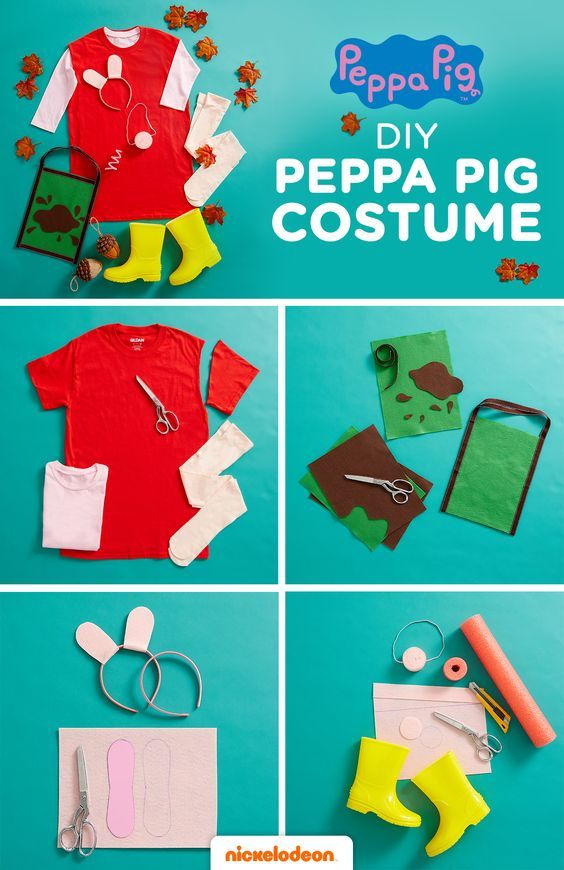 Make this easy Peppa Pig kids costume for Halloween and win trick-or-treating! Looking for a super adorable costume for your Peppa fan without the hassle of Halloween store shopping? Look no further than this DIY Peppa Pig costume! All it takes are some simple supplies you can get from your own home or local craft store, and you'll have your preschooler trick-or-treat ready in no time.