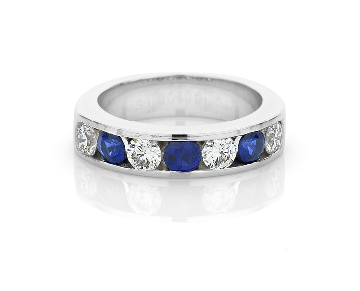 Blue Sapphire and Diamond Channel Set Band from Michael Wilson Diamond Jewellers