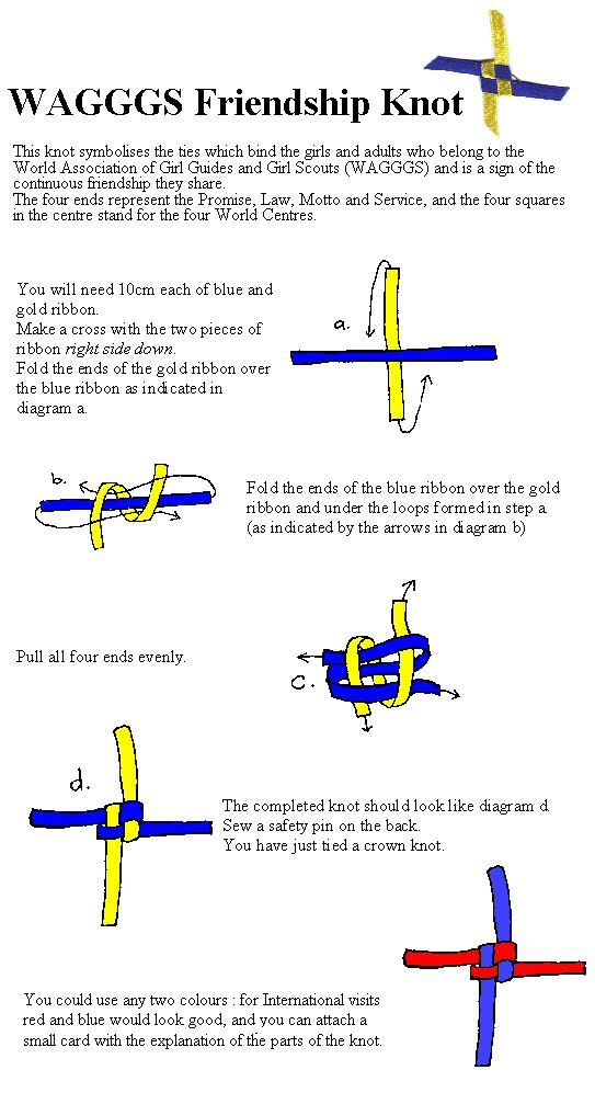 WAGGGS Knot for International Day/Thinking Day pot latches/swaps Nice…