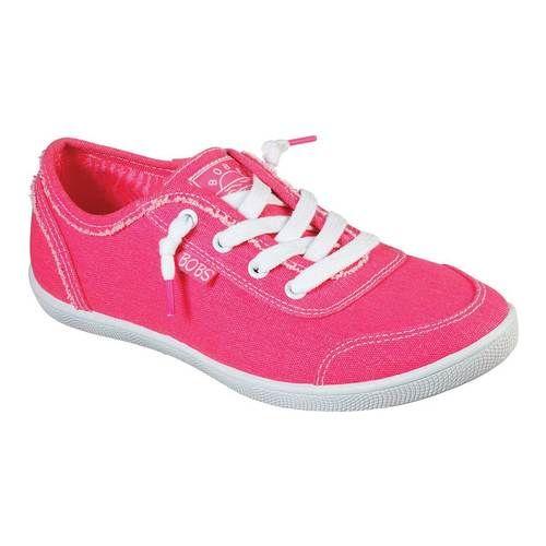 skechers neon pink