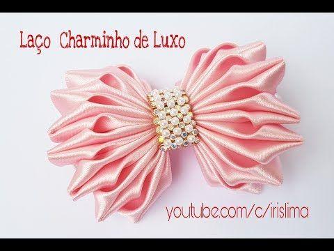 Laço de Cetim Laço Charminho de Luxo DIY PAP TUTORIAL Iris Lima - YouTube