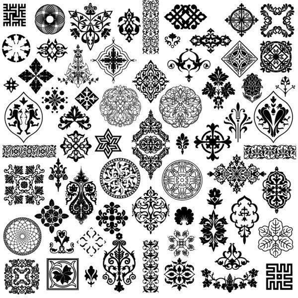 美しい古典的な伝統的なパターン ベクター材料                                                       …
