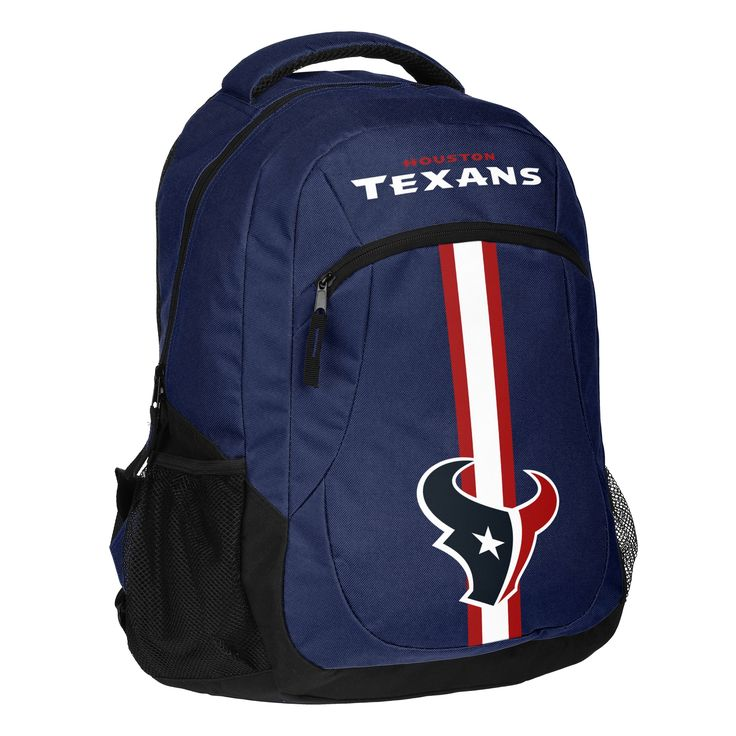 Forever Collectibles Houston Texans NFL Action Stripe Logo Backpack