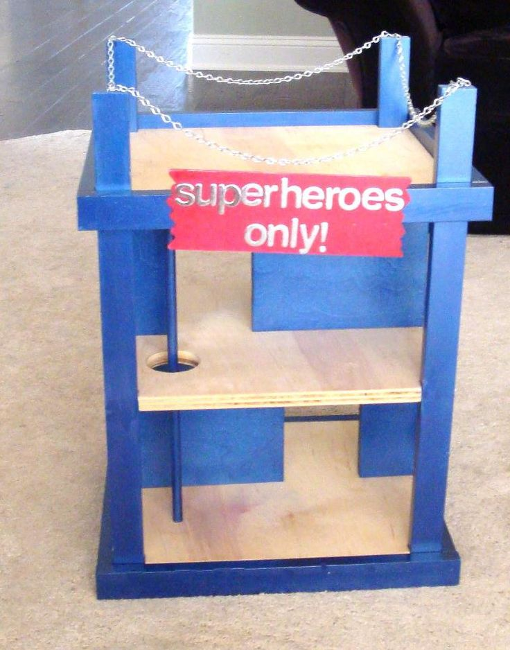 super hero hangout- could convert the doll house.