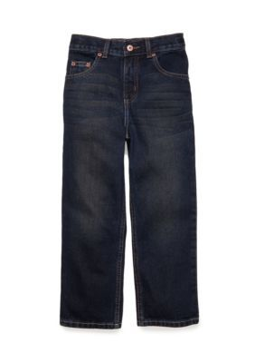 J. Khaki Boys' Straight Fit Slim Jeans Boys 4-7 - Blue - 7 Slim