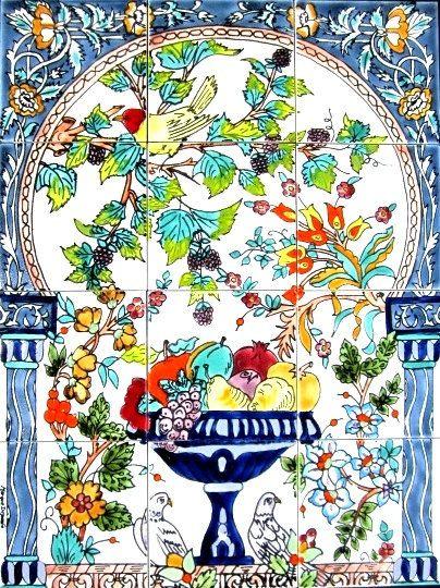Decorative Ceramic Tiles Mosaic Panel Hand By