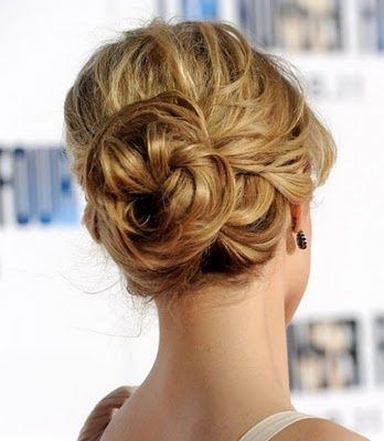 bun hairstyle back