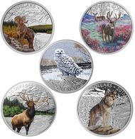 2015 $20 FINE SILVER 5-COIN SET - MAJESTIC ANIMALS  #CanadianMint #Canadian #Mint $499.75