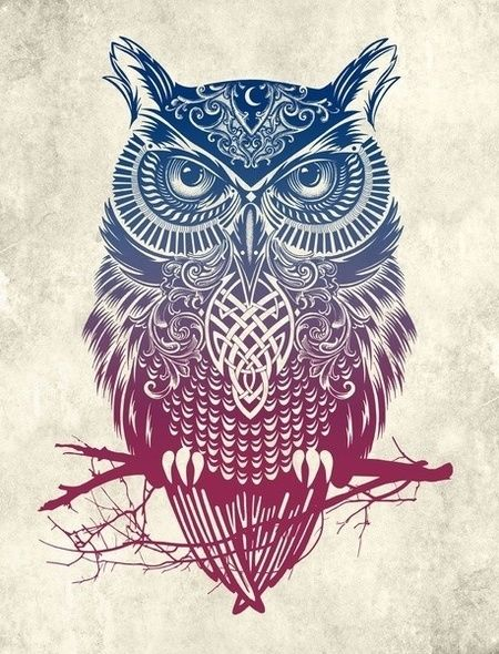 Tribal Owl Wallpaper for Apple iPad