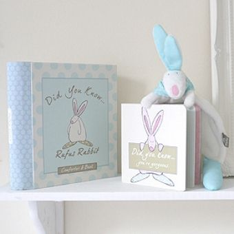 Little Rufus Boy comforter and book baby gift. €21.50 from babygifts.ie!