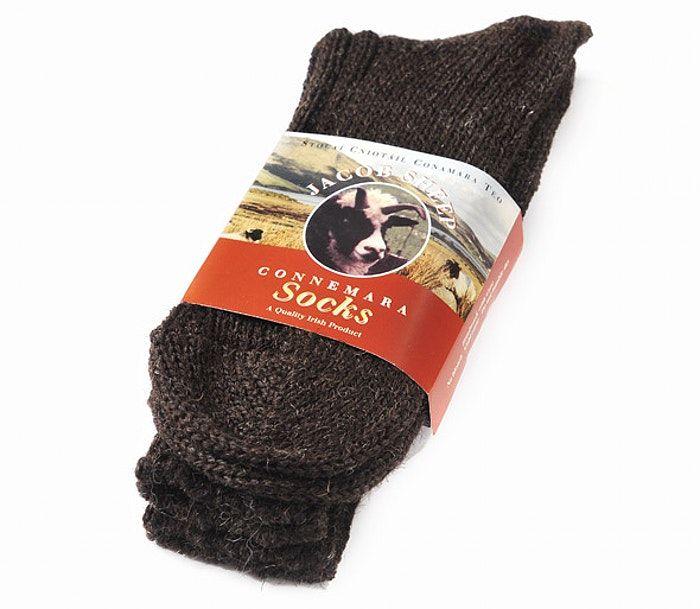 Buy dark brown woolen walking socks from Irish Inspiration