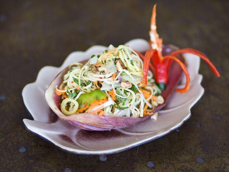 Vietnamese Banana Blossom Salad. It's beautiful! If I ever get to Indochina, I'm looking out for something like this.