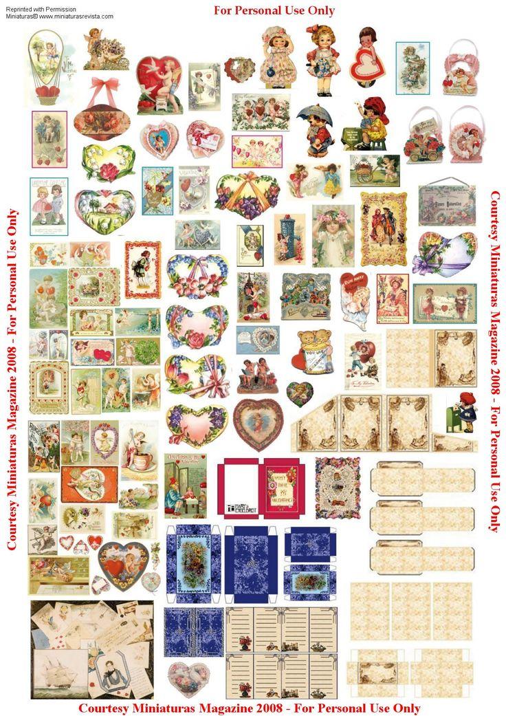Dollhouse printables from Miniaturas magazine  http://www.cdhm.org/printies/valentinesa.jpg